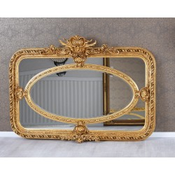 Oglinda baroc din lemn masiv auriu cu o rama deosebita