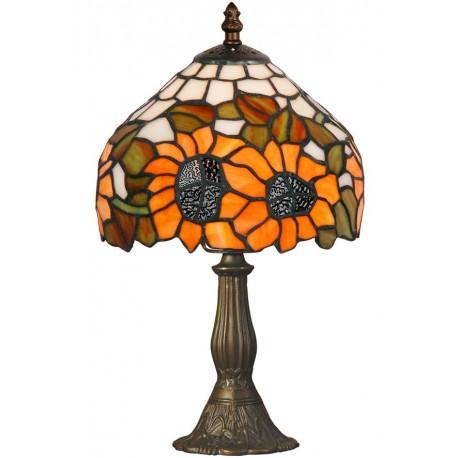 Lampa Tiffany din bronz cu floare soarelui