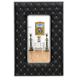 Oglinda din cristal cu o rama neagra tapitata cu cristale