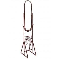 Oglinda cu o rama din fier forjat cu decoratiuni cu pasari