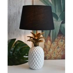 Lampa de masa cu un ananas alb
