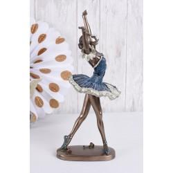 Statueta din ceramica cu bronz cu o balerina