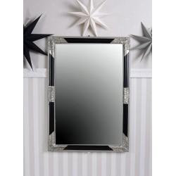 Oglinda rococo cu o rama argintie cu negru