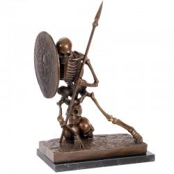 Skeleton - statueta din bronz pe soclu din marmura