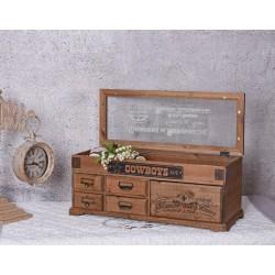 Cutie din lemn pentru depozitat diverse obiecte