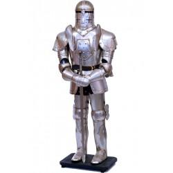 Armura mare argintie de cavaler medieval