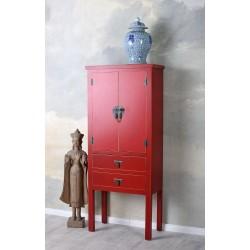 Cabinet exotic din lemn masiv rosu