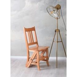 Scaun scara din lemn masiv natur