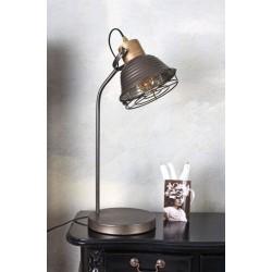 Lampa industriala din metal cu un bec Edison