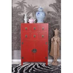 Consola exotica din lemn masiv rosu