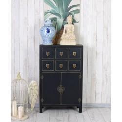 Cabinet exotic din lemn masiv negru