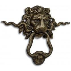 Decor pentru usa exterioara cu cap de leu