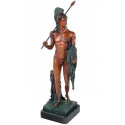 Luptator danez- statueta din bronz pe soclu din marmura