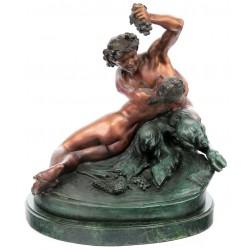 Doi indragostiti  - statueta din bronz pe soclu din marmura