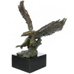 Vultur mare - statueta din bronz pe soclu din marmura