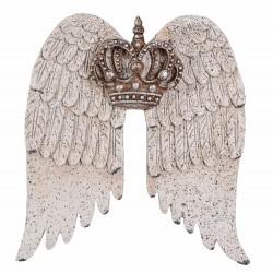 Set aripi din polystein cu o decoratiune cu coroana