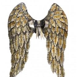 Set aripi din metal cu o decoratiune cu o funda
