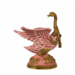 Gasca roz din portelan cu bronz