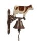Clopot din fonta cu o vaca pentru usa