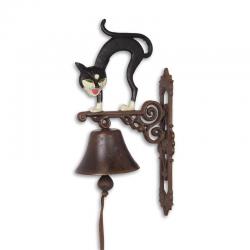 Clopot din fonta pentru usa cu o pisica
