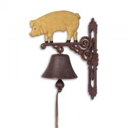 Clopot din fonta cu un porc