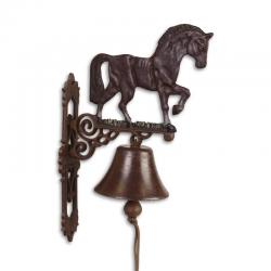 Clopot de usa din fonta cu un cal maro