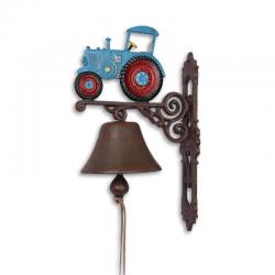 Clopot de usa cu un tractor rosu cu albastru