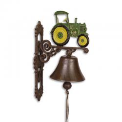 Clopot de usa cu tractor galben cu verde