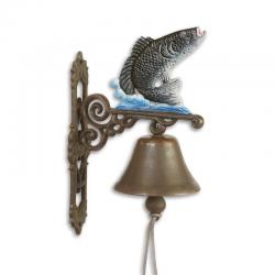 Clopot de usa cu un peste din fonta
