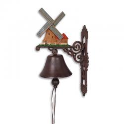 Clopot de usa din fonta cu o moara de vant