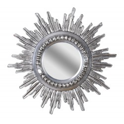 Oglinda din cristal cu rama argintie soare