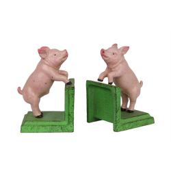 Set doua oritoare de carti verde cu purcelusi roz