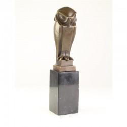 Statueta art deco din bronz cu o bufnita