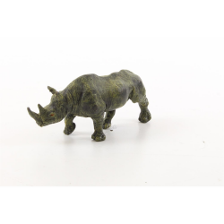 Rinocer-statueta din bronz in stil vienez