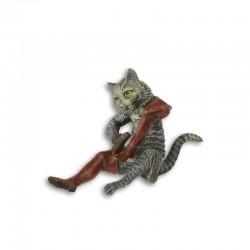 Pisica-statueta din bronz