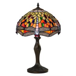 Lampa Tiffany din bronz cu libelule