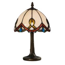 Lampa Tiffany din bronz cu abajurul bej