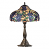 Lampa Tiffany din bronz cu flori