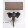 Lampa de masa din rasini cu un cap de elefant