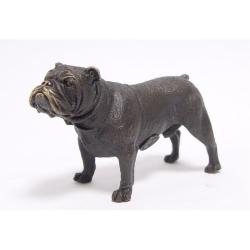 Buldog englez-statueta din bronz
