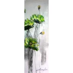 Maci verzi- pictura in ulei cu o rama fina