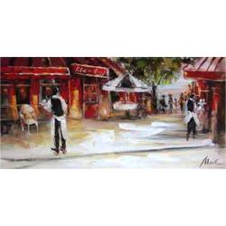 Barmani turci cu tava - pictura in ulei