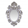 Oglinda argintie din cristal cu doi ingerasi
