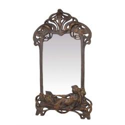 Oglinda de masa Art Nouveau din fonta