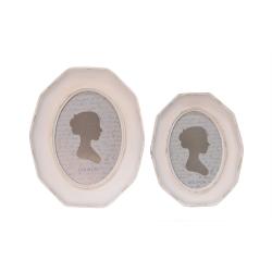 Doua rame foto ovale din rasini