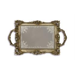 Oglinda dreptunghiulara argintie