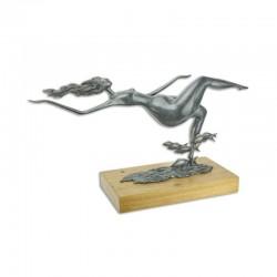 Nud modern -statueta din bronz pe un soclu din marmura