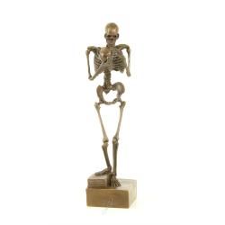 Contemplarea mortii- statueta din bronz pe un soclu din marmura