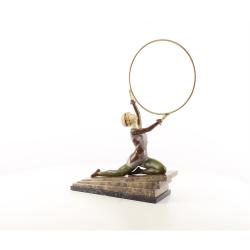 Extaz-statueta din bronz pe un soclu din marmura
