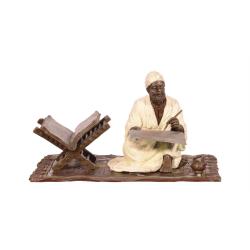Scrib- statueta din bronz pictat
